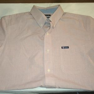 Mens Chaps  Short Sleeve Button Up Large